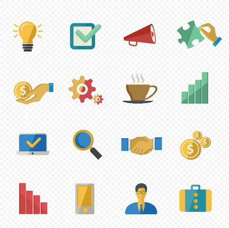Business and office icons,flat version Vector