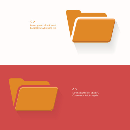 Folder,Blank for text,vector Vector