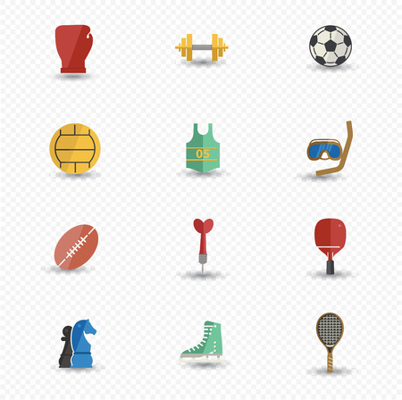 Sport icons,Colorful version,vector Vector