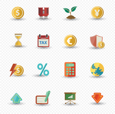 Business and Finance icons,Colorful version,vector Vector