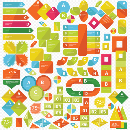 ul: Elements of Infographics,Colorf ul version,vector