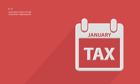 owe: Tax concept,Blank for text,vector Illustration