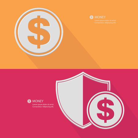 debt collection: Financial concept,Blank for text,vector