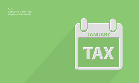 one year: Tax concept,Blank for text,vector Illustration