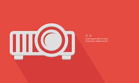 Projector concept,Blank for text,vector Vector