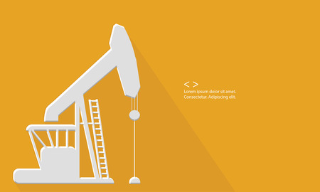 fracking: Oil concept,Blank for text,vector Illustration