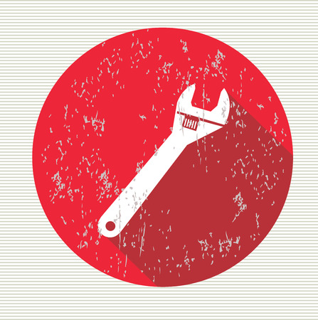 Wrench symbol,vector