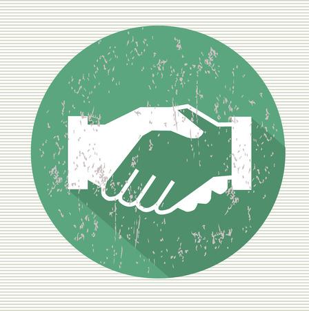 Shake hands symbol,vector Vector