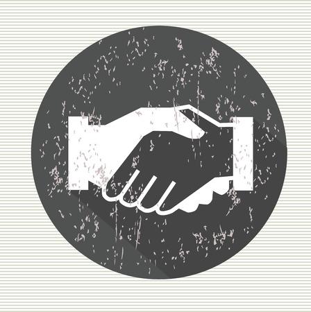 Shake hands symbol,vector  イラスト・ベクター素材