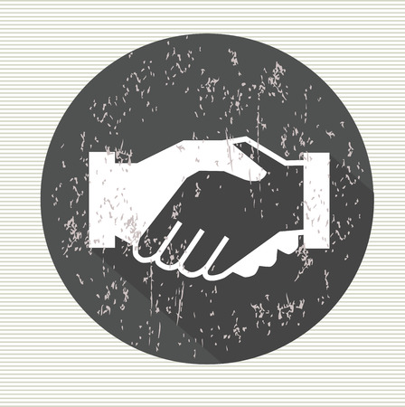 Shake hands symbol,vector 矢量图像