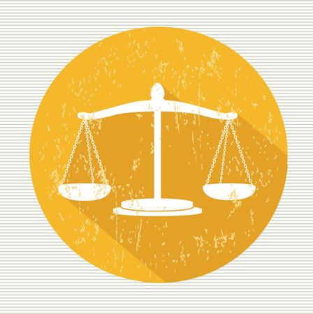 Justice scale symbol,vector Vector