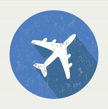 Airplane symbol,vector Vector