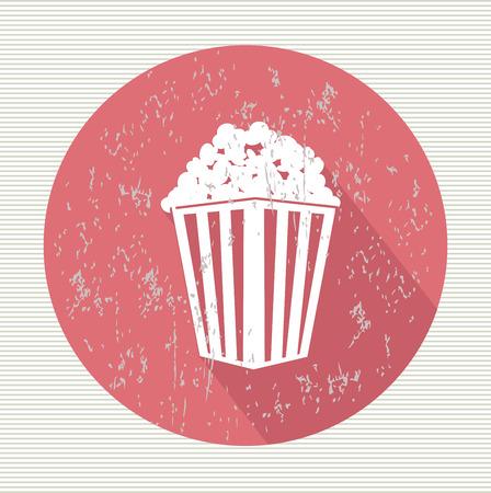 Popcorn symbol,vector Vector