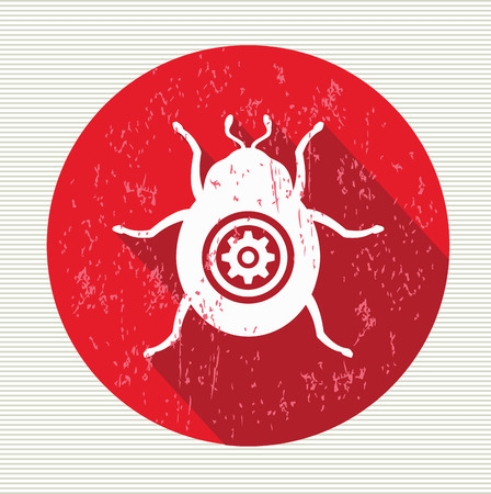 lady beetle: Bug sign, vector Illustration