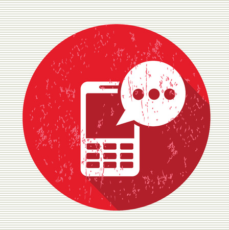 Message on mobile symbol,vector Vector