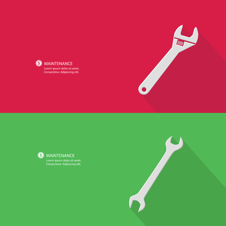 Maintenance and blank for text,vector Vector