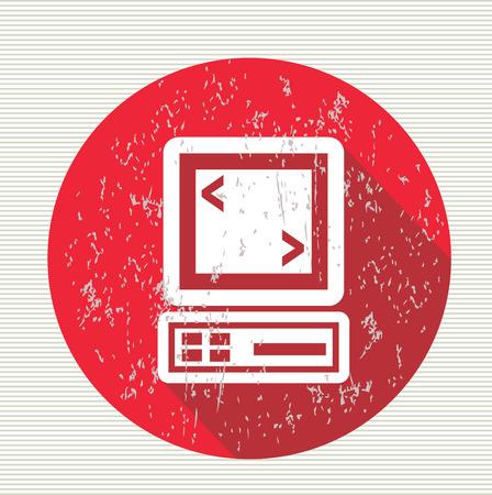 Computer symbol,vector Stock Vector - 28011413