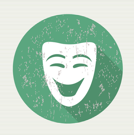 somber: Smile mask symbol,vector