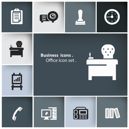 Office icon set,vector Vector