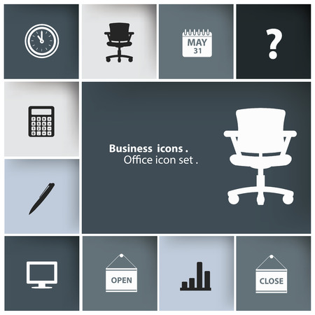 Office icons,Blank for text,vector Vector
