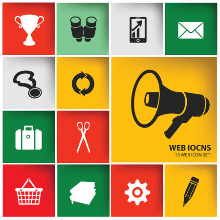 Web   Marketing icon set,vector