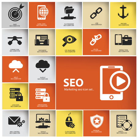 SEO   Marketing icon set,vector Vector