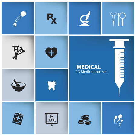 Medical icons,Blank for text,vector Vector
