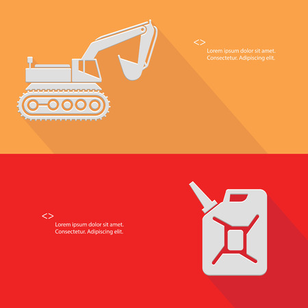 sidelight: Truck and oil,Blank for text,vector Illustration