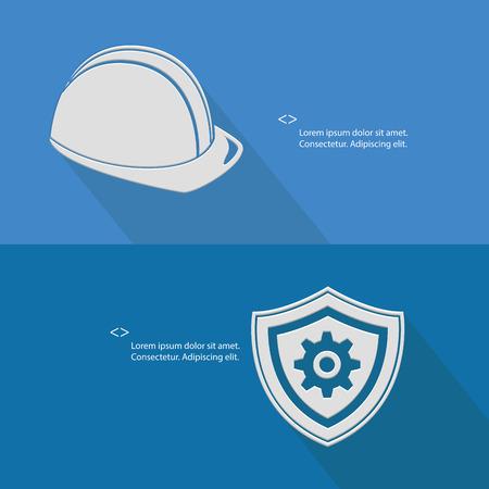 Sécurité pour l'ingénierie, vide pour le texte, version bleue, vecteur