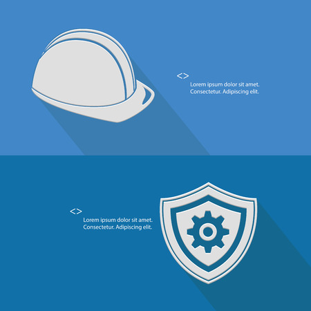 work safe: Security for engineering,Blank for text,blue version,vector