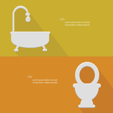 Toilet,Blank for text,yellow version,vector Vector