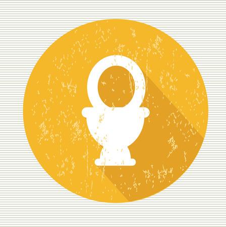 Toilet symbol,vector Vector