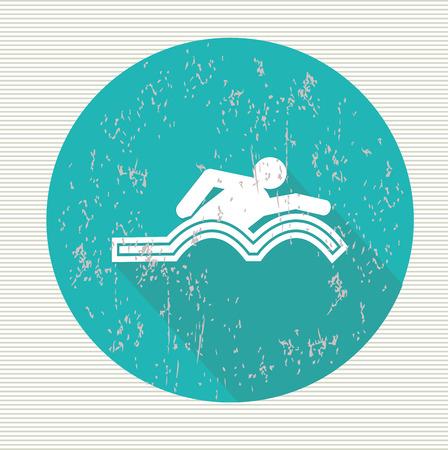 swiming: Swiming symbol,vector