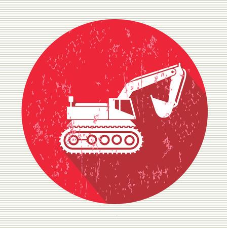 trencher: Excavator symbol,vector