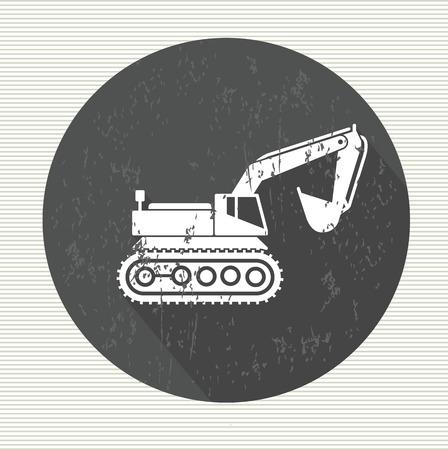 earth moving: S�mbolo de la excavadora, vector Vectores