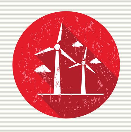 Wind turbine symbol,vector
