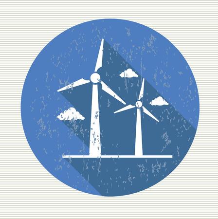 Wind turbine symbol,vector Vector