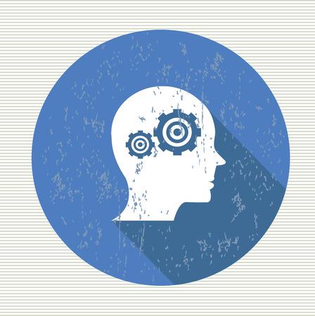 Gear brain,vector Vector