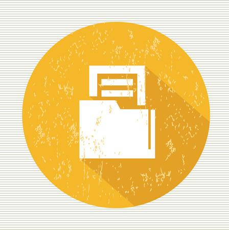 Folder symbol,vector Vector