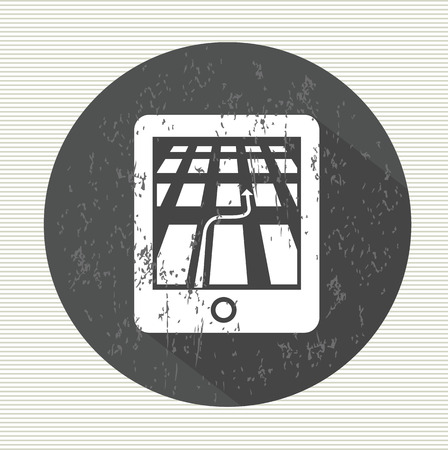 electronic organiser: GPS symbol,vector Illustration