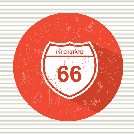 66: Route 66 sign, vector Illustration