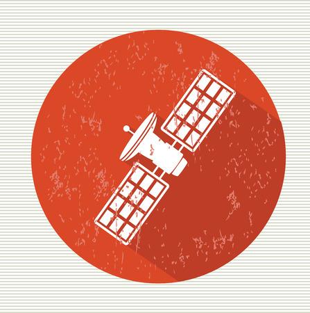 sattelite: Satellite symbol,vector Illustration