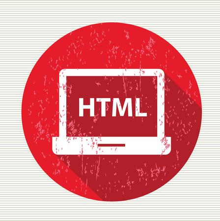 stylesheet: Html symbol,vector Illustration