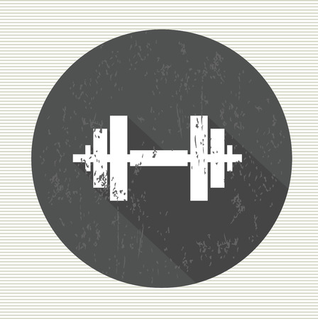 barre: Fitness sign, vector