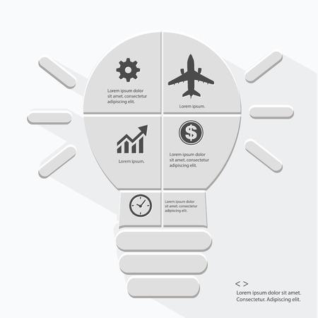 Bombilla Infografía diseño, vector