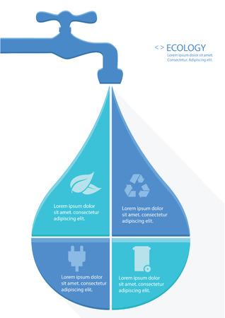 Water Infographics design,vector Vector