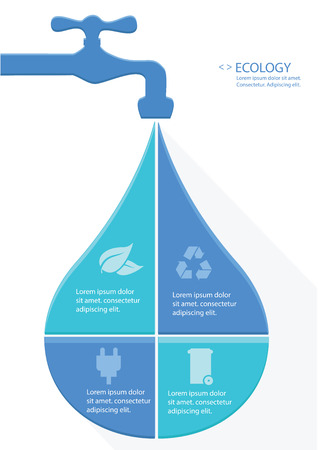 Water Infographics design,vector Vector