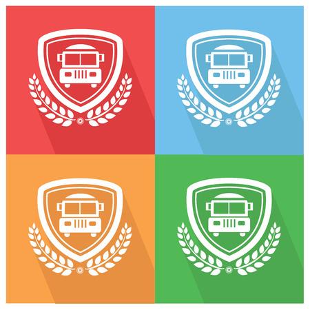 School bus badge,vector Vector