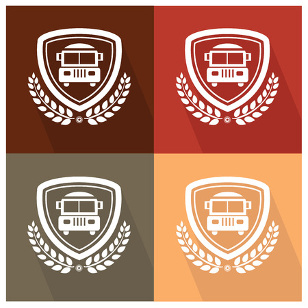 School bus badge,vector Vector