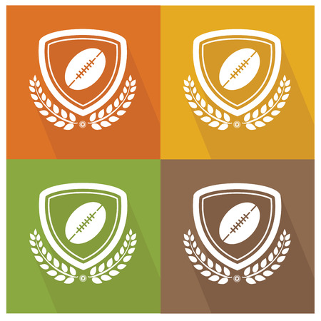 Rugby badge,vector Vector